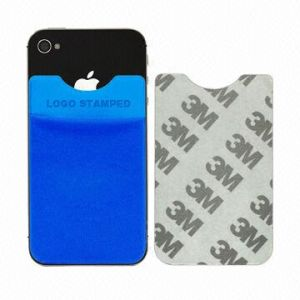 Microfiber Mobile Phone Pocket in Logo Printed with 3m Sticker
