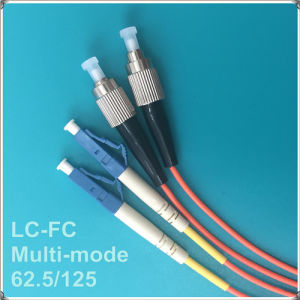 LC-FC PC Multi-Mode Fiber Optic Patch Cord pictures & photos