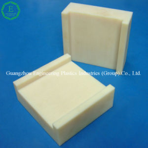 Plastic Plate CNC Rice Yellow PA66 Sheet pictures & photos