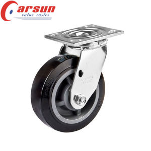 6inches Heavy Duty Rotating Caster with Black PU Wheel
