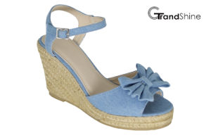 Women′s Espadrille Platform Wedge Sandals with Bow pictures & photos