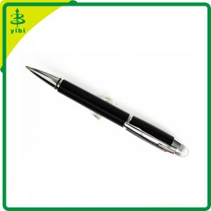Promotiona Advertising Black Metal Ball Point Pen Gift with Crystal (Hch-R131)