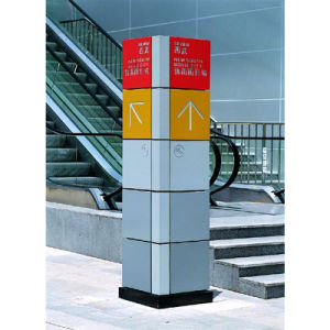4 Sides Advertising Stainless Steel Mall Directory Signs pictures & photos
