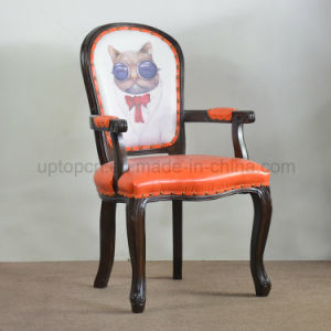French Astro Cat Wooden Armrest Louis Dining Chair (SP-EC627) pictures & photos