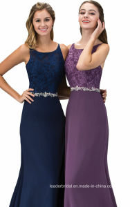 Beading Party Prom Dresses Navy Purple Lace Evening Dress G12163 pictures & photos