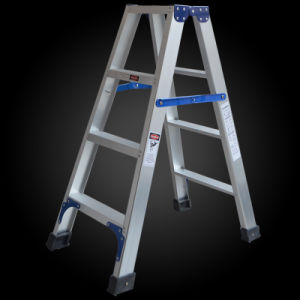 China Supplier A Shape Folding Scaffolding Aluminum Ladder pictures & photos