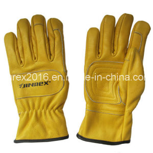 New Grain Cow Leather Mechanical Safety Working Hand Protect Gloves pictures & photos