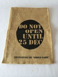 Printed Christmas Jute Shopping Bag Wholesale pictures & photos