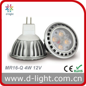 LED Bulb MR16 Aluminum Body 4W 12V 300lm pictures & photos