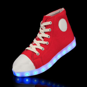 2016 Newly Design Canvas LED Shoes with 7 LED Colors for Adults, Canvas Shoes pictures & photos