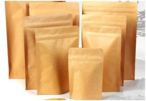Customized Kraft Paper Compound Bag. Brown Paper Bag