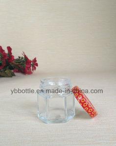Glass Jar, Clear Glass Hexagon Jar with Lug Caps