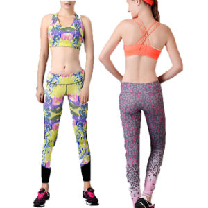 Yoga Compression Trousers Sports Pants for Women Sports Wear (AK4656) pictures & photos