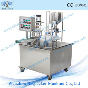 Rotary Type Full Automatic Paper Cup Sealer Filer Packing Machine pictures & photos