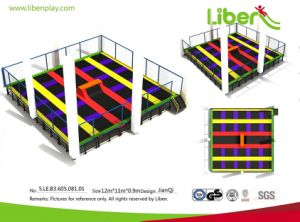 Multifunction Indoor Trampoline Park with Basketball Hoop pictures & photos