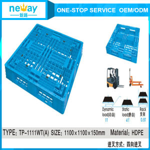Top Quality 4-Way Entry Type and Euro Pallet Type Plastic Pallet pictures & photos