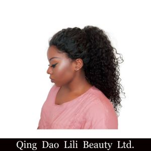 250% Density Curly Lace Front Human Hair Wigs for Black Women You May Brazilian Remy Hair with Baby Hair Bleached Knots pictures & photos