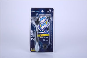 Six Stainless Steel Blade Razor for Men pictures & photos