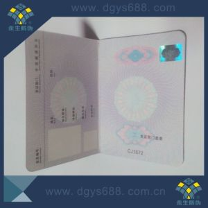 Custom Watermark Hot Stamping Hologram Anti-Counterfeiting Brochure pictures & photos