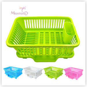 Plastic Draining/Drying Kitchen Storage Dish Rack pictures & photos
