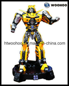 Outdoor Playground Welcoming Robot Transformers Bumbkebee