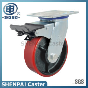 Heavy Duty Iron-Core PU Swivel Industrial Caster Wheel pictures & photos
