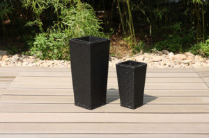 Modern Outdoor Furniture Rattan Square Flower Vase (FS-5301+FS-5302) pictures & photos