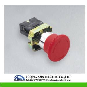 Xb2-BS 40mm Mushroom Emergency Stop with Key IP40/IP65 Waterproof Electrical Push Button Switch pictures & photos