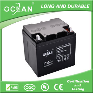 12V 24ah Gel Solar Battery with 3 Years Warranty