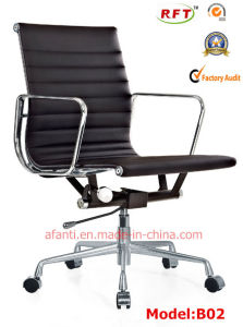 Modern Eames Office Aluminium Leather Hotel Aluminium Visitor Chair (E02) pictures & photos