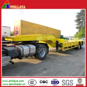 Cimc 2axle 3axles Log 30ton Low Boy Flatbed Semi Trailer pictures & photos