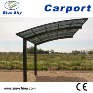 Glass Roof Modern Metal Carport (B800) pictures & photos