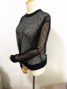 Lady Tops Fashion Fish Net Lace Women Clothes pictures & photos