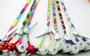 Portable 3.5mm Colorful Metal Zipper Stereo Built-in Microphone Earphone pictures & photos