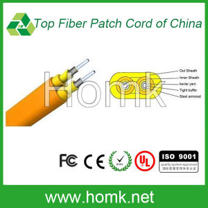 Indoor Fiber Optic Cable (Flat Twin Armored GJFJV) pictures & photos