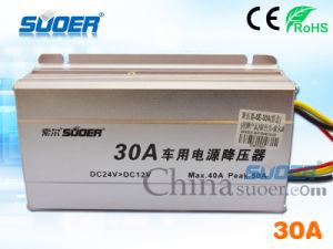 Suoer 30A DC 24V to 12V Car Power Converter (SE-30A) pictures & photos