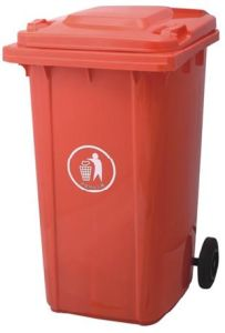 Red 240lt HDPE Wheeled Dustbin pictures & photos