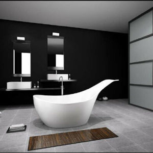 New 2016 Design Acrylic Solid Surface Stone Bathtub pictures & photos