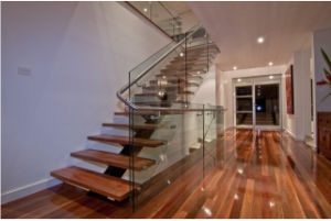 Wooden Floating Staircase /Wood Folding Stairs / Build Floating Staircase pictures & photos