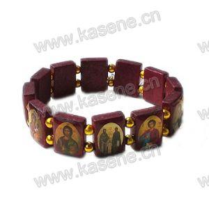 Hot Sale Wooden Saints Holy Rosary Bracelet