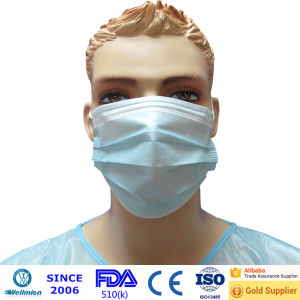 Hot Sell Disposable Nonwoven 3-Ply Bird Flu Bacteria Masks pictures & photos