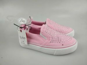 Casual Style Lady Fancy Cheap Pink Canvas Shoes
