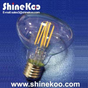 Ceramic R80 6W LED Filament Lamp pictures & photos