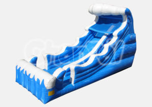 Blue Surf Water Slide Inflatable Slide for Children (CB280) pictures & photos