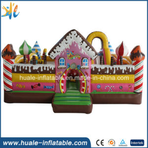 Pink Candy Kids Toy Inflatable Jumper Bouncy Castle for Kindergarten