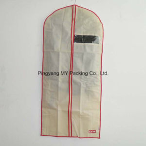 Nonwoven See Through Non-Toxic Suit Cover Garment Bag with Zipper for Promotion pictures & photos