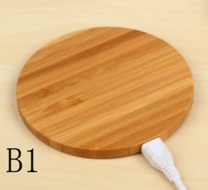 Bamboo Wireless Charger for Mobile Phone pictures & photos