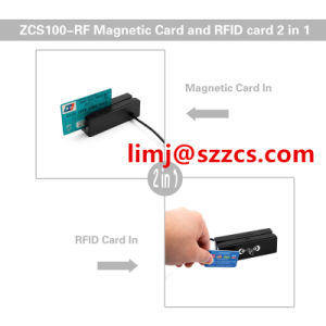 Zcs100-RF Smart Card Reader and Writer2-in-1, Mag Reads, 13.56MHz RFID Read and Write