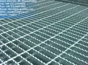 Hot DIP Galvanized Serrated Floor Gratings for Platform pictures & photos