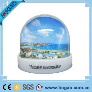 Plastic Christmas Photo Frame Snow Globe (HG-006) pictures & photos